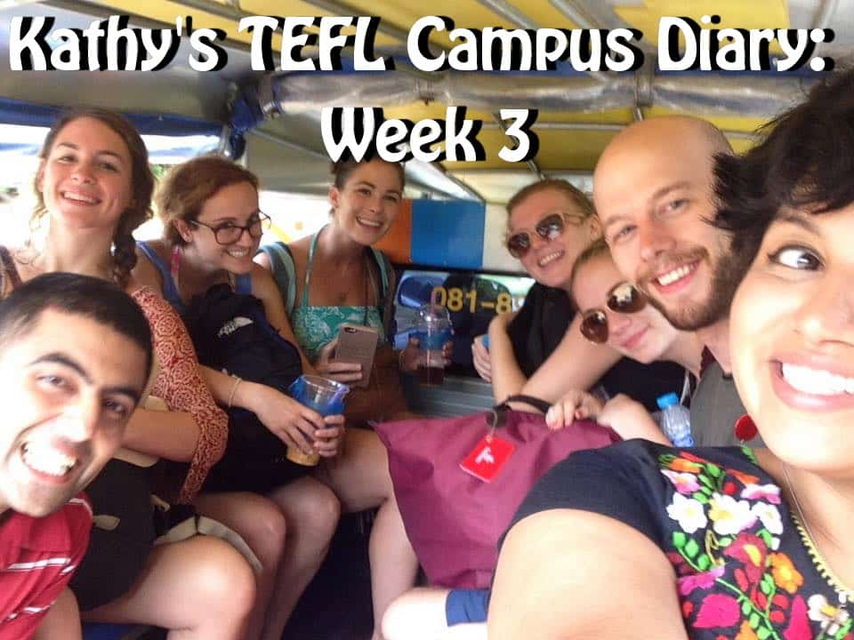 TEFL course, teaching English in Thailand, TEFL diary